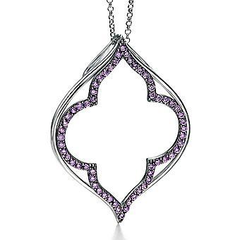 925 серебряные позолоченные Рутения и модные ожерелья циркония