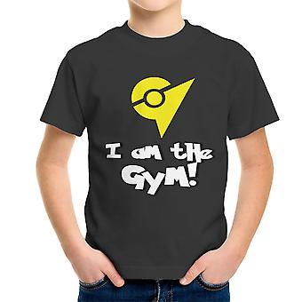 Pokemon gehen ich bin der Turnhalle gelb Kinder T-Shirt