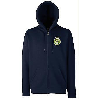 HMS Trafalgar Embroidered Logo - Official Royal Navy Zipped Hoodie Jacket