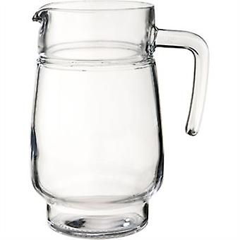 Tivoli Handled Ice Lipped Jug 1.6L Great For Home Or Restaurant Clear Glass