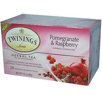 تويننجز من لندن الرمان & شاي الأعشاب التوت