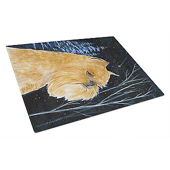 Carolines Treasures  SS8362LCB Starry Night Brussels Griffon Glass Cutting Board