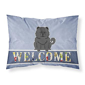 Chow Chow Black Welcome Fabric Standard Pillowcase