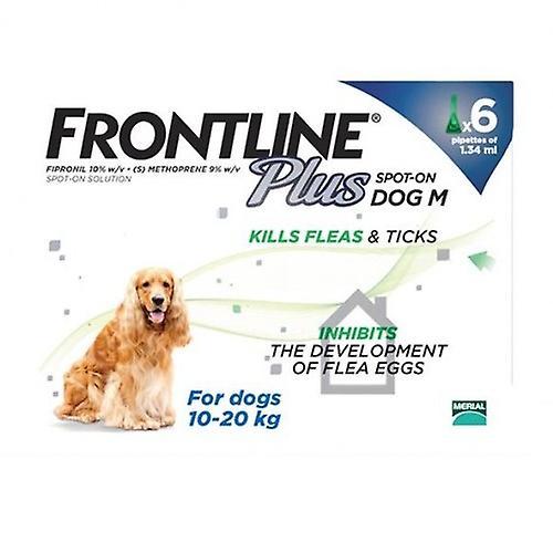 Frontline Plus Medium Dogs 23-44lbs(10-20kg), 6 Pack