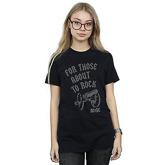 AC/DC naisten niille aikeissa Rock Cannon poika ystävä Fit T-paita