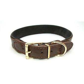 Vital Pet Products Chunky Brown Leather Dog Collar