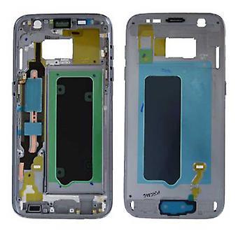 Samsung GH96-009788A корпус кадр крышка для галактики S7 G930 G930F + черный коврик клей