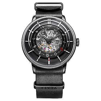 FIYTA Mens 3D Time Automatic Leather WGA868000.BBB Watch