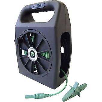 Cliff CIH299450 Veiligheidstestlood et [4 mm stekker - 4 mm aansluiting] 50,00 m Groen