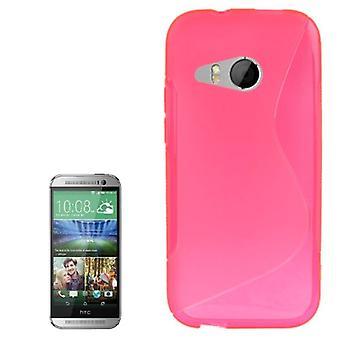 HTC 1 つミニ 2 ピンクの携帯ケース TPU 保護ケース