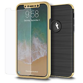 Samsung Galaxy S8 + plus 2 i 1 fall 360 graders full cover case guld