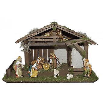 Barneseng NIKOLO tre Manger Nativity Christmas Nativity stabil