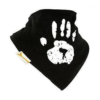 Black & white hand print bandana bib