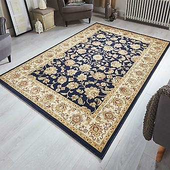 Kendra Traditional Bordered Rugs 3330B In Navy Blue
