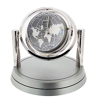 Gift Time Products Gyro Globe Desk Clock - Silver