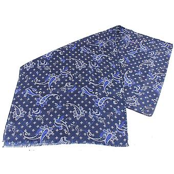 Bassin and Brown Finney Paisley Scarf - Navy