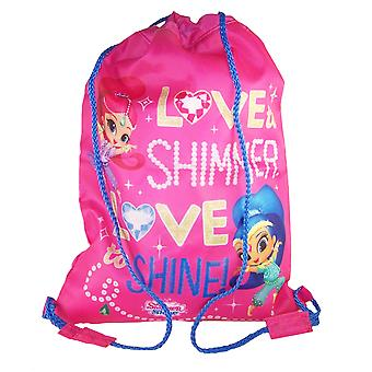 Jenter Shimmer skinne rosa snor kit bag
