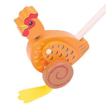 تعلم لعب بيججيجس دفع الدجاج خشبية على طول المشي لعبة التنقل ووكر