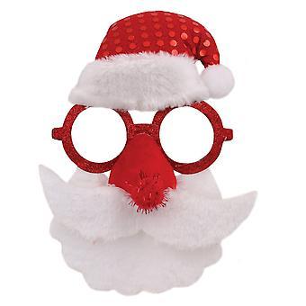 Рождественский магазин Санта лица очки