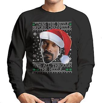 Twas Nizzle vor Chrismizzle Snoop Dogg Weihnachten Herren Sweatshirt