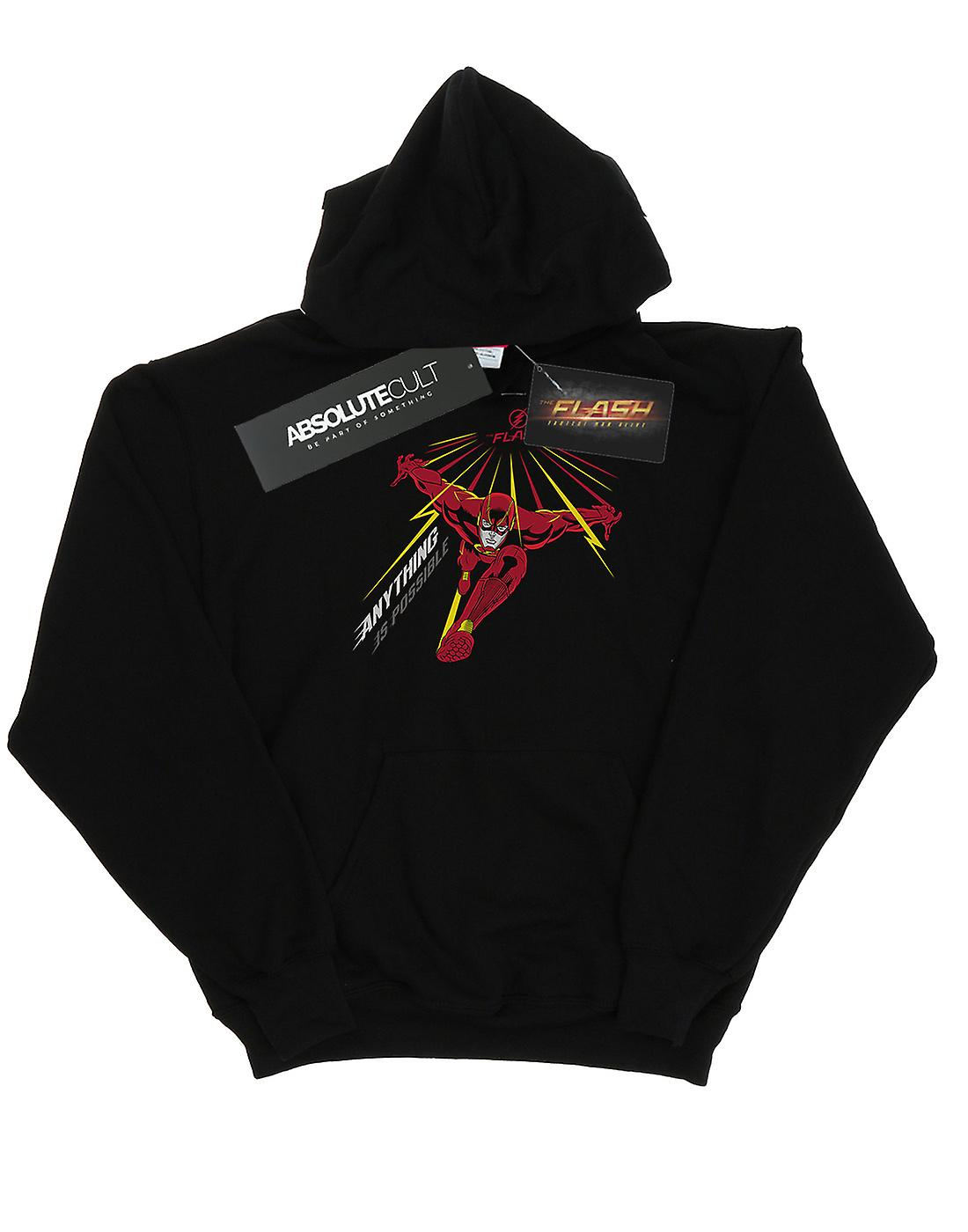 DC Comics Men's The Flash Anything Is Possible Hoodie