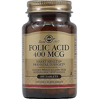 Solgar Folic Acid 400 Mcg Tablets 100