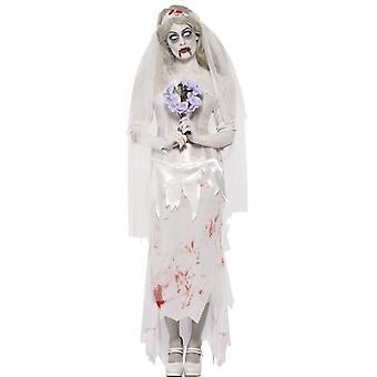 Kunnes kuolema meidät erottaa Zombie morsian puku, UK Dress 16-18