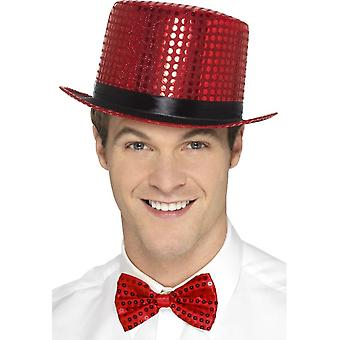 Pailletten Top Hat, Red