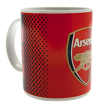 Arsenal FC Fade Design Ceramic Mug In Acetate Box