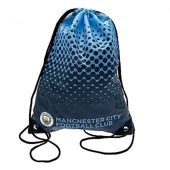 Manchester City FC Fade Design Drawstring Gym Bag