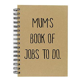 Mum's Book Of Jobs To Do A5 Kraft Notebook