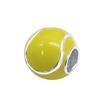 Tenis Ball - bolas de llanura de plata esterlina 925 - W11049X