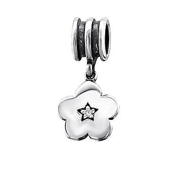 Blume - jeweled 925 Sterling Silber Beads - W9743X