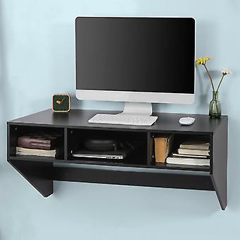 SoBuy mural Bureau d'ordinateur avec tiroirs FWT14-SCH