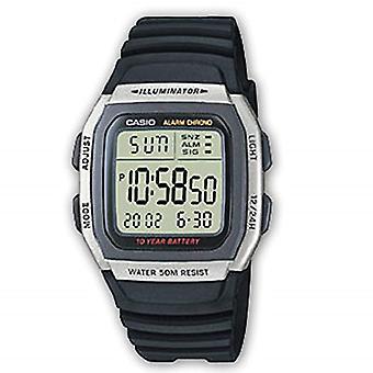 Montre numérique Casio avec bracelet en caoutchouc W-96hrs-1AVES