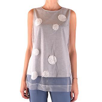 Fabiana Filippi Ezbc055023 Femmes-apos;s Grey Cotton Top