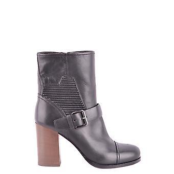 Car Shoe Ezbc029009 Women's Black Leather Ankle Boots