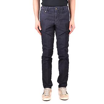 Incotex Ezbc093033 Men's Blue Cotton Pants