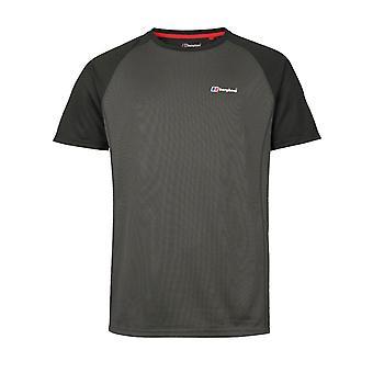 Berghaus Tech 2.0 hombres manga corta base camiseta al aire libre gris / negro