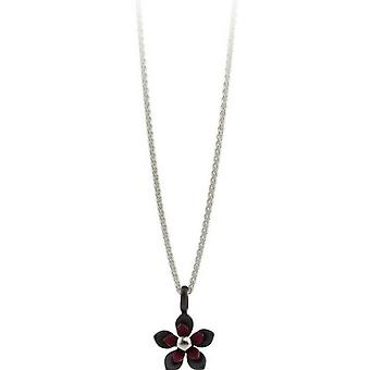 Ti2 Titanium fire Petal blomst vedhæng - Mulberry Brown