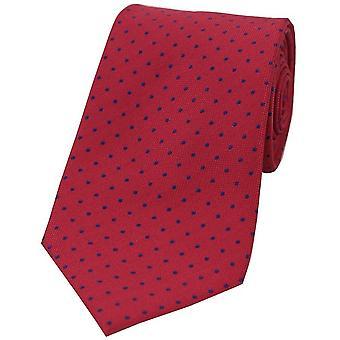 David Van Hagen Pin Dot Tie Polyester - rouge/bleu
