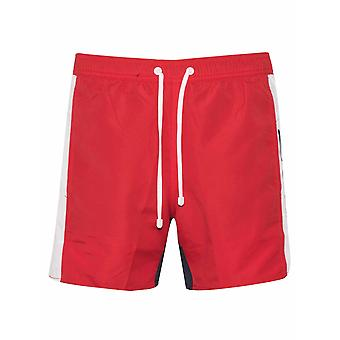 EA7 Red Logo Swim Short