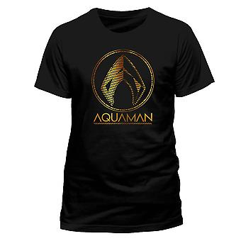 T-Shirt da uomo con simbolo metallico Aquaman Movie