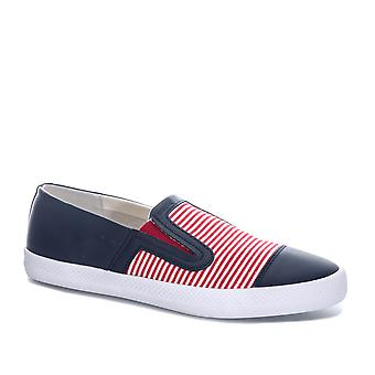 Womens Geox Giyo slip on pompe in rosso/Navy