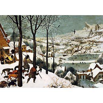Piatnik Breugel Avcılar Kar Yapboz (1000 Adet)