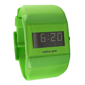 Wize and Ope Classic  Green Digital  Watch WO-ALL-15