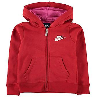 Nike småbarn flickor Club Full Zip Hoodie