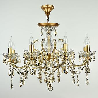 Maytoni Lighting Sevilla Diamant Crystal Chandelier, Gold