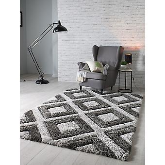 Samt 3D Silber Kohle Rechteck Teppiche Plain/Fast einfache Teppiche