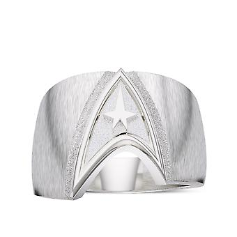 Star Trek Logo Ring In Sterling Silver